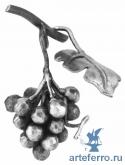 Виноградная гроздь с листочком, 90х170мм