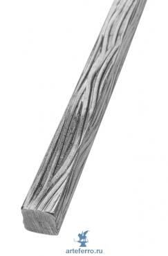 Профиль декоративный 14х14мм с фактурой коры дерева, L 3000мм