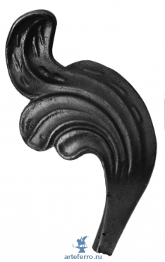 Листок литье Ø12мм, 65х130мм