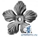 Цветок литье с отв. Ø8мм, 90х90х3мм