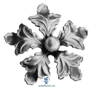 Цветок штампованный с шариком Ø90мм, 2мм