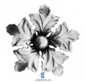 Цветок штампованный с шариком Ø80мм, 2мм