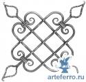 Декоративная кованая розетка Ø12мм, 470х470мм