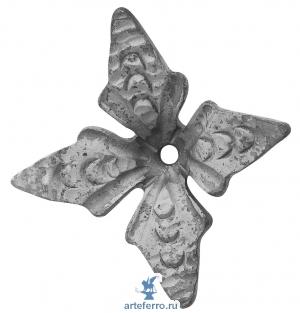 Цветок кованый 110х110х4мм