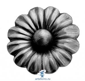 Цветок штампованный с шариком Ø95мм, 3мм