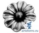 Цветок штампованный с шариком Ø65мм, 3мм