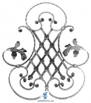 Декоративная кованая розетка кованая 16х8мм, 640x H710мм