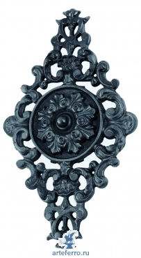 Декоративная чугунная накладка ромб. 460х265мм