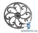 Розетка кованая круглая 12х12мм, 295мм