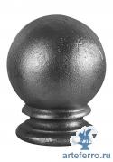 Наконечник на столб кованый основание Ø70мм, шар 90мм,Н 125мм