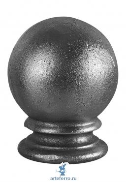 Наконечник на столб кованый основание Ø55мм, шар 70мм,Н 100мм