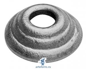 Подпятник литье Ø60мм с круг. отв. 31мм, Н 18мм