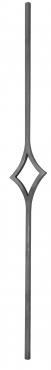 Балясина кованая 12мм с 1 центральным ромбом Н 1000мм L 120мм