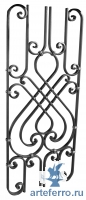 Декоративная кованая панель 16х8мм, 420х1000мм