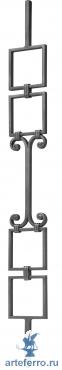 Балясина кованая с 2 квадратами по краям, 14х14мм, L 115мм, Н 1000мм